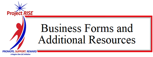 Business Forms and Additional Resources