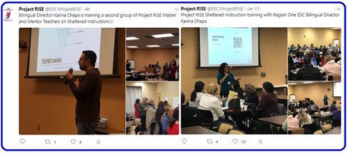 Project RISE Sheltered Instruction, Twitter Link