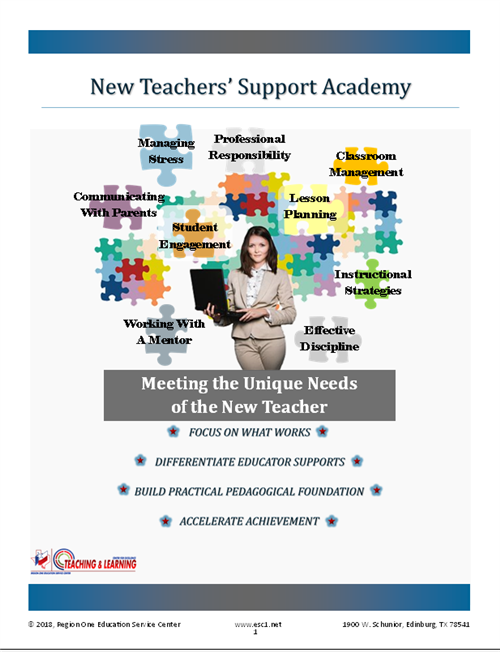 New Teachers' Support Academy Booklet Cover click to access downloadable form