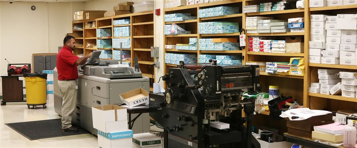 image of Region One ESC's print shop