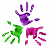 colorful children's hands