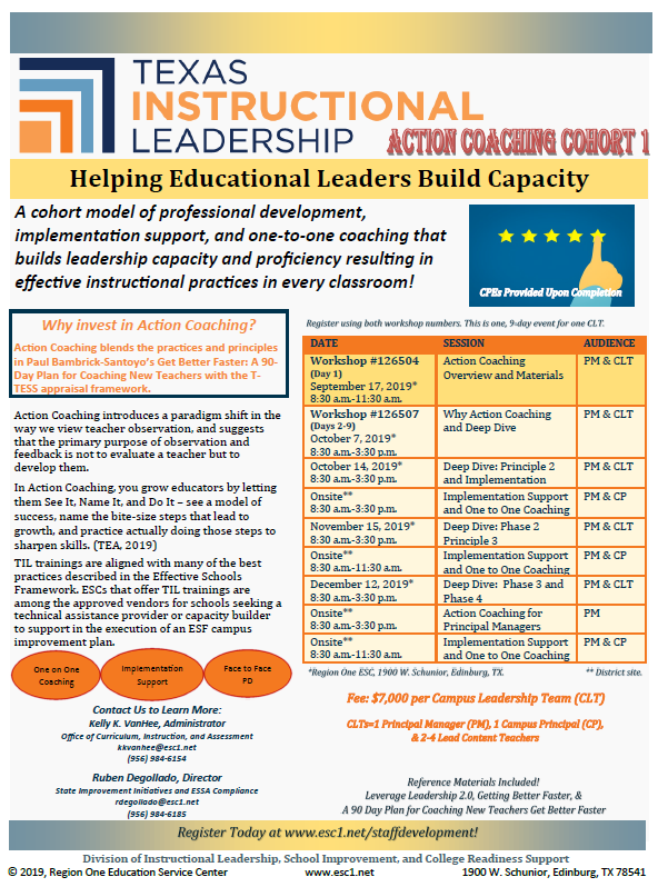 Image-TIL Action Coaching Flyer