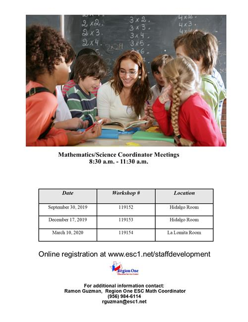 math meetings flyer