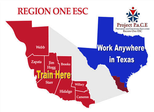 Train in Region One Work Anywhere in Texas Graphic