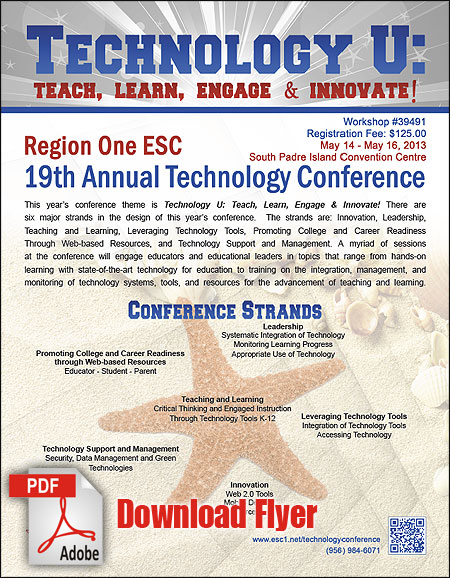 Download Tech Conference 2013 Flyer